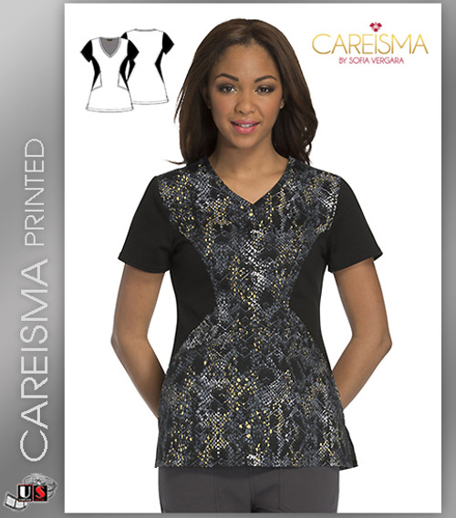 Careisma Printed Give Me A Hiss Women's V-Neck Short Sleeve Top