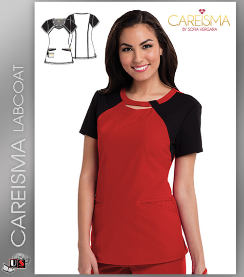 Careisma Women's Round Neck Short Sleeve Top