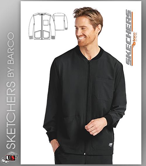 Skechers Scrubs Men's Structure Warm-Up Jacket