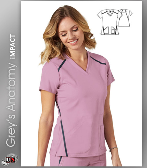 Grey's Anatomy™ iMPACT Women's V-Neck Solid Scrub Top