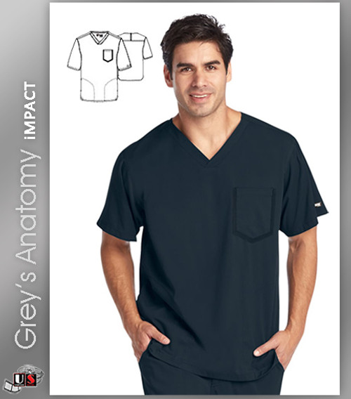 Grey's Anatomy™ iMPACT Men's Ascend V-Neck Solid Scrub Top