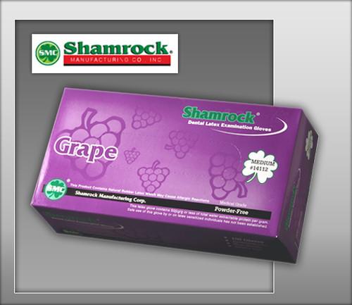 Shamrock Grape Flavored Powder Free Latex Examination Gloves – Textured -14000 Series - 100 Gloves / BOX