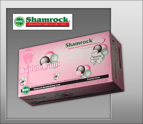 Shamrock Bubble Gum Flavor Powder Free Latex Examination Gloves – Textured - 15000 Series - 100 Gloves / Box