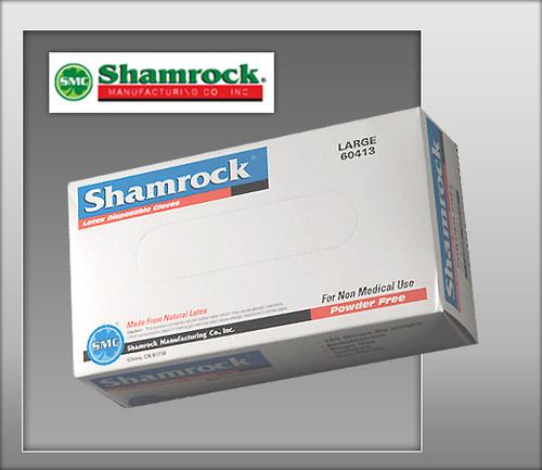 Shamrock Powder Free Industrial Latex Gloves – Textured - 60000 Series - 100 Gloves / BOX