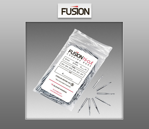 Fusion Hi-Cut Burs - Friction Grip (FG) Carbide Burs