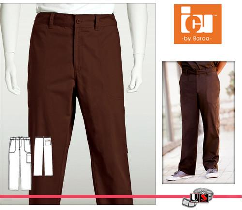 ICU Barco Solid Scrubs 5 Pocket Mens Zip Front Pants