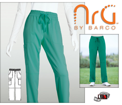 Barco NRG arcFlex 8 Pockets Boxer Waist Cargo Scrub Pants