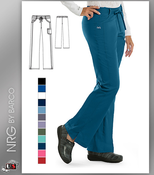 Barco NRG 4 Pocket Tie Front Straight Leg Pants
