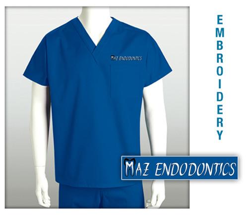 MAZ ENDODONTICS Embroidered Scrub Top