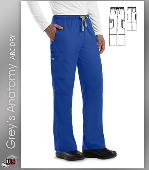 Grey's Anatomy Men's 6 Pocket Cargo Scrub Pant