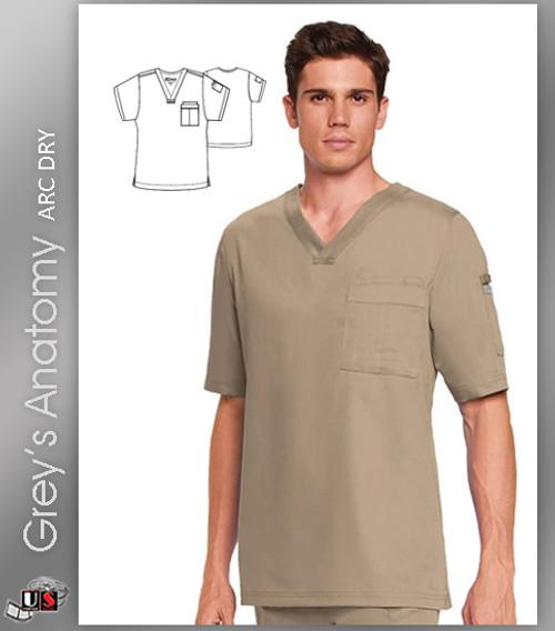 Grey's Anatomy™ Arc Dry 3 Pocket Men's Fit V-Neck Top