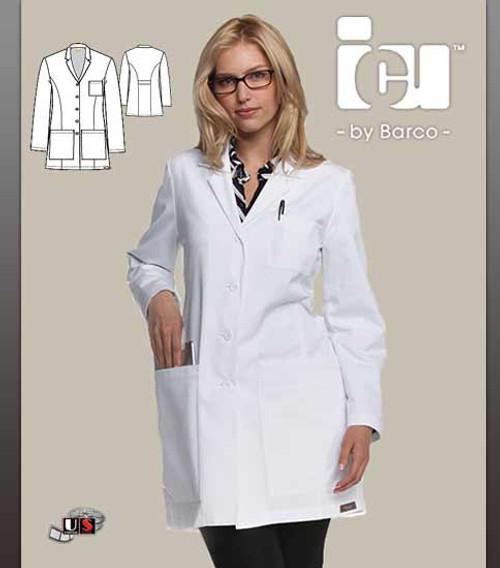"ICU Barco Women's Lab 34"" 5 Pocket Princess Seam"