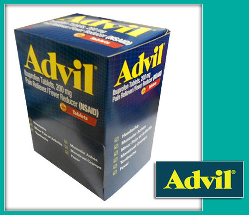 Advil Pain Reliever/Fever Reducer Coated Tablets 50CT