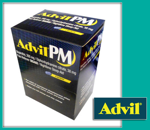 Advil PM Pain Reliever/Nighttime Sleep-Aid Caplets 50CT