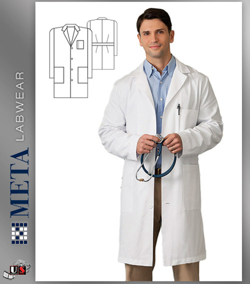 "650 Meta Labwear Men's 38"" Cotton Labcoat"