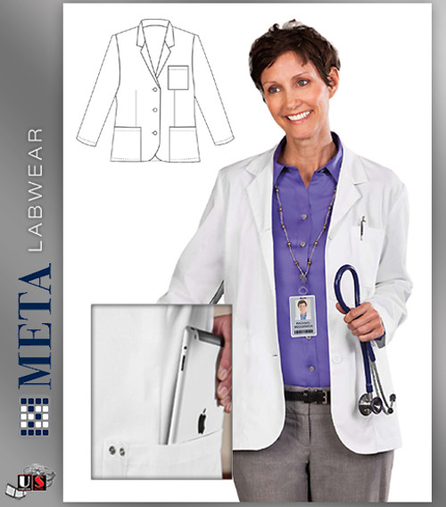 677 META Labwear Women's Consultation Lab Coat