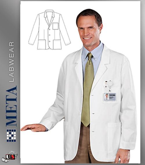 "679 META Labwear Men's 30"" Expandable iPad Consultation Coat"