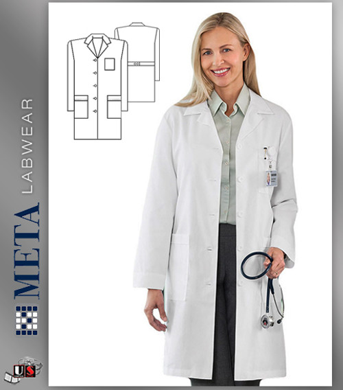 17010 META Labwear Women's Performance 4-Pocket Lab Coat