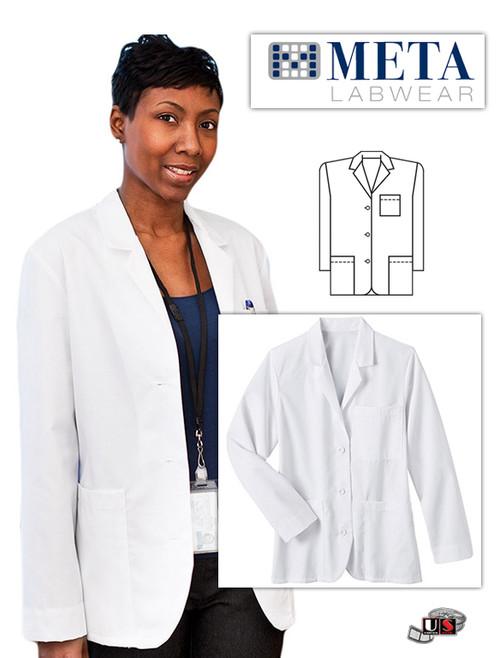 "META Labwear Women's Consultation 28"" Lab Coat"