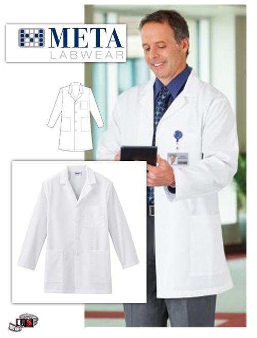 "Fundamentals by META Labwear Men's 34"" Lab Coat"