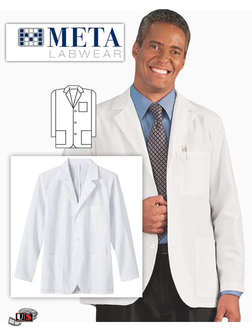 META Labwear Men's 3-Pocket Consultation Lab Coat