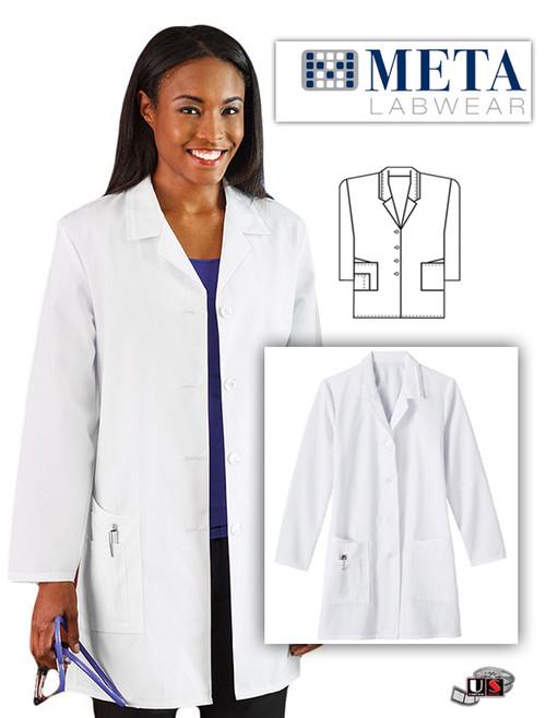 "META Labwear Women's 35"" Lab Coat"