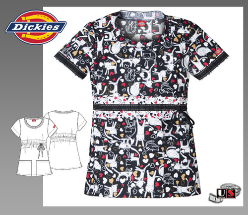 Dickies Fashion Jr. Fit Round Neck Top in Meow Is The Time