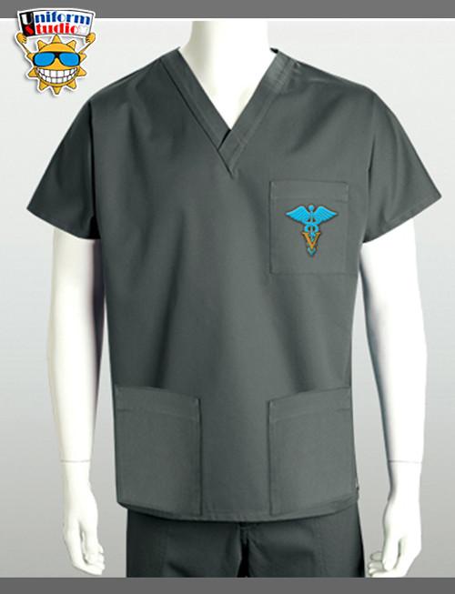 Uniform Studio Unisex V-Neck Top Veterinary Blue