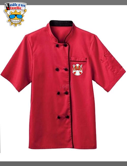 Uniform Studio Chef Apparel Ladies Short Sleeve Executive Coat - Red