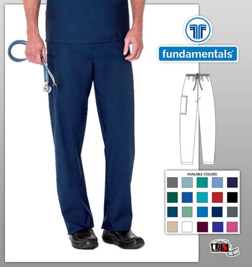 White Swan Fundamentals Unisex Drawstring Waist Scrub Pants