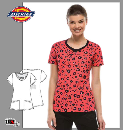 Dickies EDS Printed Real Wild One Jr. Fit Round Neck Top