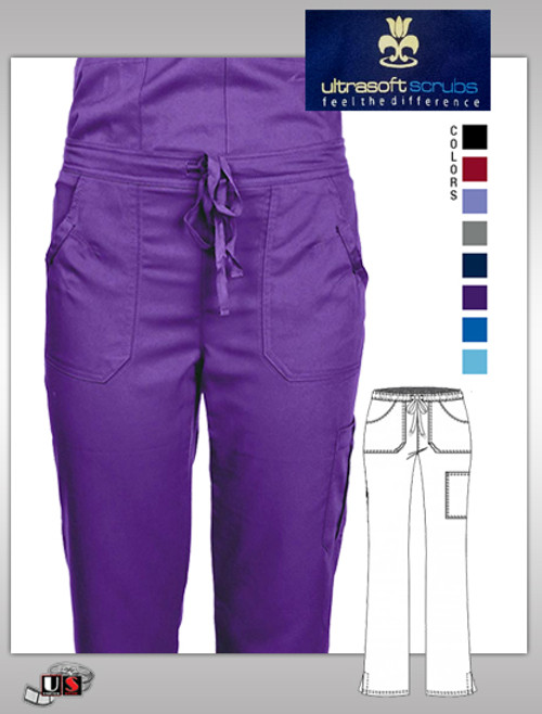 ULTRASOFT SCRUB Womens Junior Fit Cargo Pocket Pant