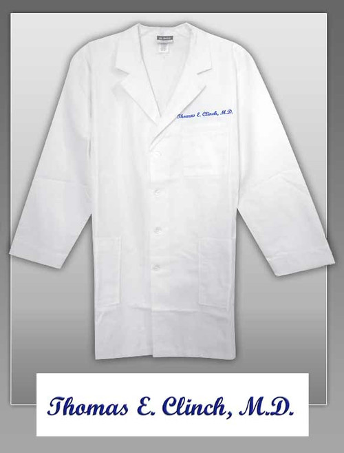 THOMAS E. CLINCH-LABCOAT Embroidered Labcoat