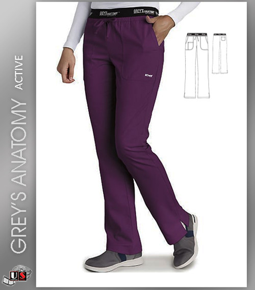Greys Anatomy Active Low Rise Logo Waist Scrub Pant