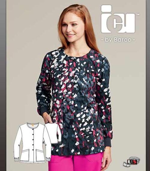 ICU By Barco Uniforms Chloe  Women's 2 Pocket Warm Up Jacket