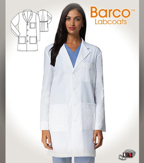 "Barco's 38"" Unisex 5 Pocket  Long-Length Labcoat"