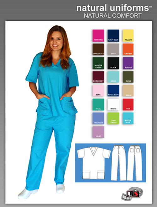 Natural Uniforms Two Piece Scrub Suit