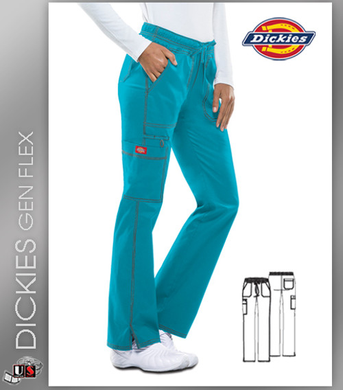 Dickies Gen Flex Women's Low Rise Straight Leg Scrub Pant