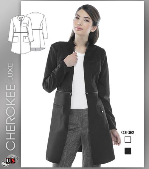 """Cherokee LUXE 32"""" Lab Coat - Black"""