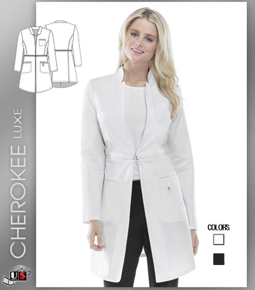 """Cherokee LUXE 32"""" Lab Coat - White"""