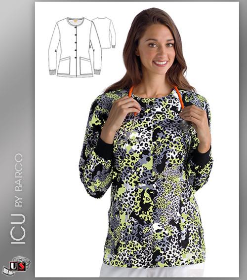 ICU By Barco Uniforms Copy Cat Women's 2 Pocket Warm Up Jacket