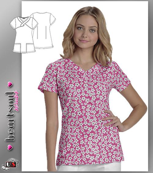 Heartsoul Women's Daisy In Love Mock Wrap Top