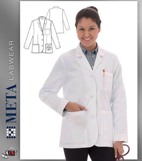 """738 Meta Ladies 28"""" iPad Consultation Coat"""