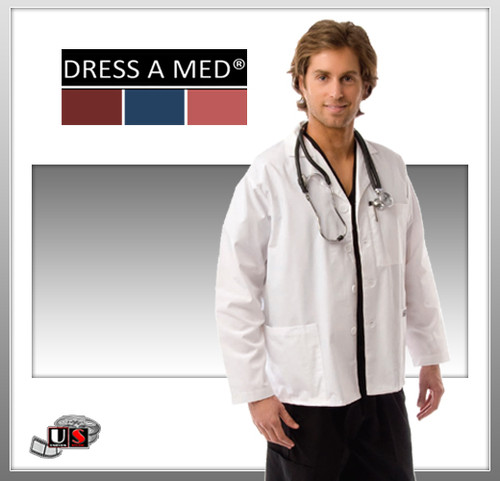 Dress A Med White Series Men's Short Lab Coat