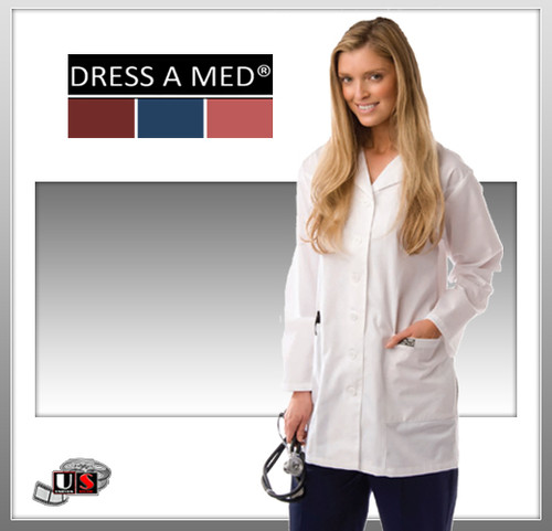 Dress A Med White Series Long Woman's Lab Coat