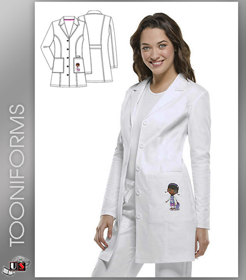 """Tooniforms By Cherokee Women's 33"""" Doc Mc Stuffins Embroidered Lab Coat"""