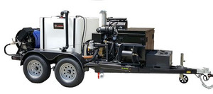 51TD Series Trailer Jetter 4020 - 60 HP, 40 GPM, 2000 PSI, 600 Gallon, Hydraulic Reel