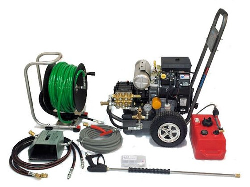 AJ Cart 5540 - 20 HP, 5.5 GPM, 4000 PSI, Garden Hose Inlet