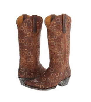 """L1794-3-SS OLD GRINGO CABAZORRO 13"""" RUST MD WESTERN BOOTS"""