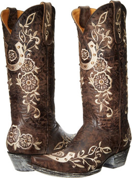 L 515-4 Old Gringo Women's Lucky Western Boot Chocolate